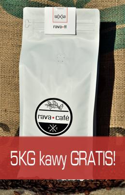 5kg kawy ziarnistej rava.ff GRATIS!