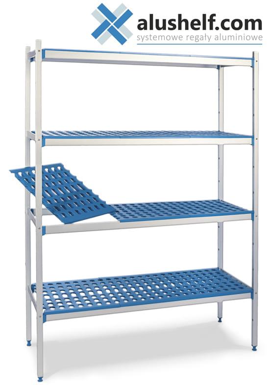 Regał Aluminiowy Magazynowy 4 Półki 1170x400x1750 Alushelf